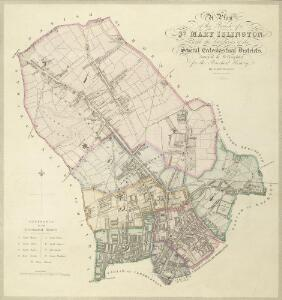 A Plan of te Parish of ST MARY ISLINGTON, with the boundaries of the Several Ecclesiastical Districts, Sueveyed by R. Creighton for the Parochial History, BY S. LEWIS, JUNR.