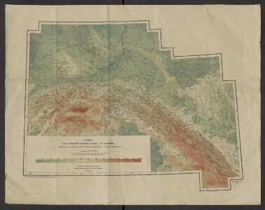 Mapa powierzchni szczytowej Karpat i ich przedmurza = Carte de la surface des faîtes des Karpates et de leur avant pays