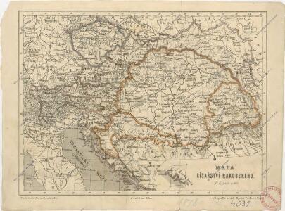 Mapa císařství rakouského