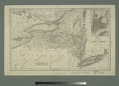 Map of the state of New York with part of Upper Canada / engraved & printed by Fenner Sears & Co.
