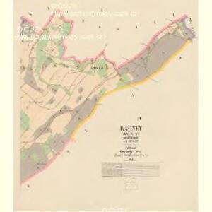 Rauney (Rauneg) - c6576-1-001 - Kaiserpflichtexemplar der Landkarten des stabilen Katasters