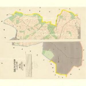 Blisanow (Bližanow) - c0285-1-001 - Kaiserpflichtexemplar der Landkarten des stabilen Katasters