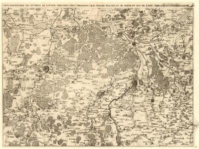 Carte Particuliere des environs de Louvain, Aerchot, Diest, Tirlemont, Leau, Iudogne, Malines, et de partie du pays de Liege