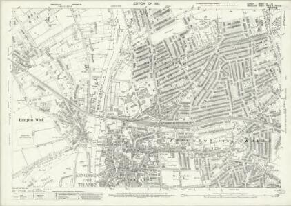 Surrey VI.16 (includes: Kingston Upon Thames; Twickenham St Mary The Virgin) - 25 Inch Map
