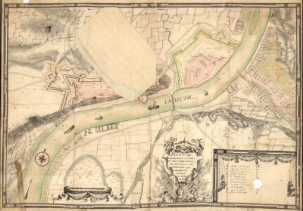 Plan de Charlemont et Givet ov. sont Réprésentéés les Novvelle S. Fortifications qve Sa Maieste Arésolv dy Faire Faire