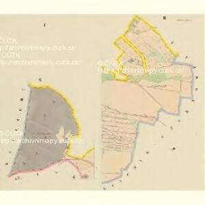 Mallinetz (Mallinec) - c4424-1-001 - Kaiserpflichtexemplar der Landkarten des stabilen Katasters