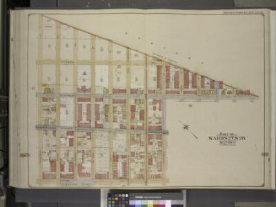 Brooklyn, Vol. 3, Double Page Plate No. 26; Part of   Wards 27 & 28, Section 11; [Map bounded by Boundry Line of Borough of Brooklyn   and Queens, Ralph St., St.Nicholas Ave.; Including Stanhope St., Irving Ave.,    Troutman St.]