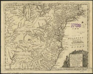 A Map of the British American plantations, extending from Boston in New England to Georgia, including all the back settlements in the respective provinces, as far as the Mississipi