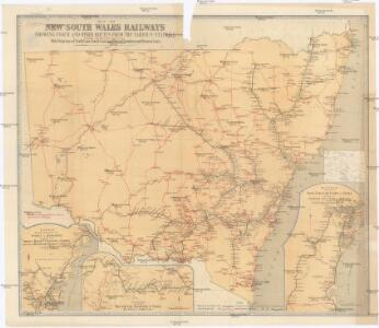 Map of New South Wales railways