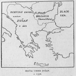 Servia under Dušan c. 1350