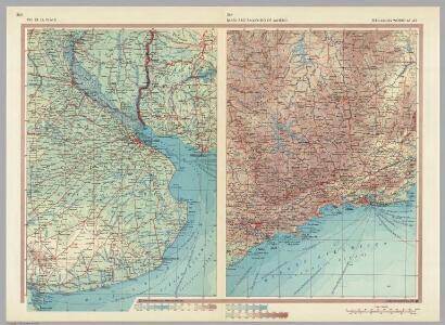Rio De La Plata.  Brazil - Sao Paulo - Rio De Janeiro.  Pergamon World Atlas.