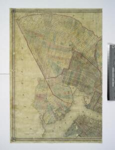 Map of the city of Brooklyn, as laid out by commissioners, and confirmed by acts of the Legislature of the state of New York : made from actual surveys, the farm lines and names of original owners, being accurately drawn from authentic sources, contai...