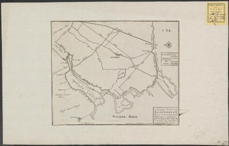 Accurate kaart van Assendelft: daar in men sien kan waar de dijken sijn ingebrooken, door de hoogewater-vloet, den 25 December 1717