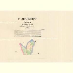 Pohorsko - c5946-1-001 - Kaiserpflichtexemplar der Landkarten des stabilen Katasters
