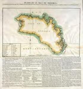 Plano de la isla de Menorca