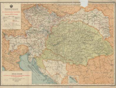 Übersichtskarte der k. k. österreichischen Staatsbahnen und der im Staatsbetriebe befindlichen Privatbahnen
