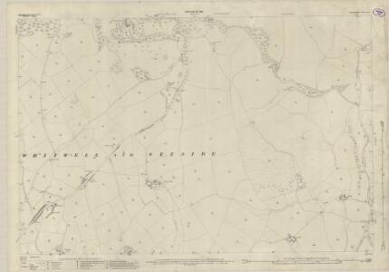 Westmorland XXXIV.1 (includes: Fawcett Forest; Whinfell; Whitwell And Selside) - 25 Inch Map