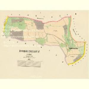 Dobřemělitz - c1206-1-001 - Kaiserpflichtexemplar der Landkarten des stabilen Katasters