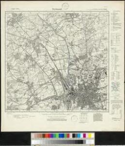 Meßtischblatt 2505 : Dortmund, 1927