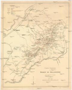 Carte Esquisse du Massif de Belledonne