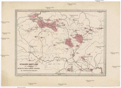 Detaillirte Darstellung der vorzüglichsten Rübenzucker-Fabriks-Bezirke der österreichischen Monarchie