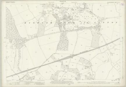Gloucestershire XXV.13 (includes: Churcham; Hempsted; Highnam; Minsterworth) - 25 Inch Map