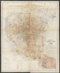 Carta volcanologica e topografica dell'Etna