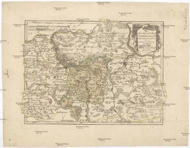 Die Markgrafschaft Niederlausitz chursächsischen und preussischen Antheils und in ihre Kreise eingetheilt.