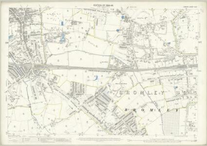 London (Edition of 1894-96) CLIII (includes: Bromley) - 25 Inch Map