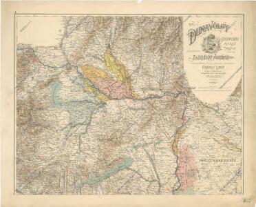 A Dunavölgy vizszabályozasi átnézeti térképe