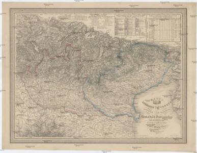 General-Post und Strassenkarte des Lombardisch-Venezianischen Königreichs