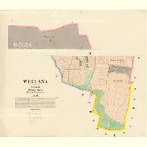 Wellana - c3079-1-001 - Kaiserpflichtexemplar der Landkarten des stabilen Katasters