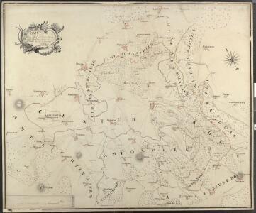 Carte von dem zwischen Chur Pfalz und Hessen Darmstadt Gemeinschaftlichen OberAmt Umstadt mit den Centorten