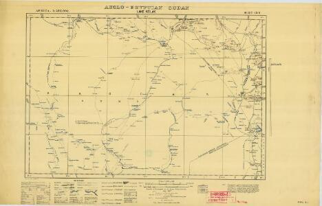 Anglo-Egyptian Sudan 1:250,000, Lake Keilak