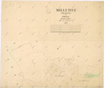 Katastrální mapa obce Miletice