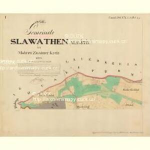 Slawathen - m2765-1-001 - Kaiserpflichtexemplar der Landkarten des stabilen Katasters