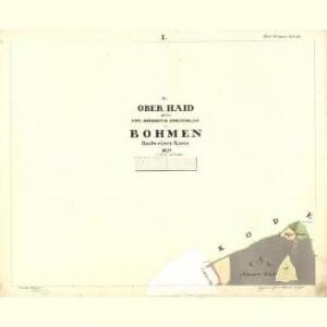 Ober Haid - c2038-1-001 - Kaiserpflichtexemplar der Landkarten des stabilen Katasters