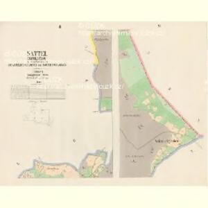 Sattel (Sedloňow) - c6810-1-002 - Kaiserpflichtexemplar der Landkarten des stabilen Katasters