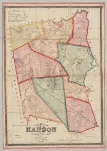 Map of the town of Hanson, Plymouth County, Mass. : surveyed by order of the town