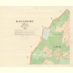 Kallischt - m1136-1-001 - Kaiserpflichtexemplar der Landkarten des stabilen Katasters