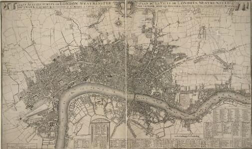 This Actuale Survey of LONDON, WESTMINSTER & SOUTHWARK IS HUMBLY DEDICATED TO Y.e L.D LORD MAYOR & COURT OF ALDERMEN