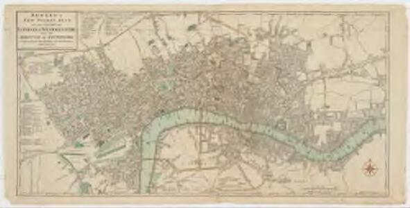 Bowles's new pocket plan of the cities of London & Westminster with the borough of Southwark : comprehending the new buidlings and other alterations to the year 1783