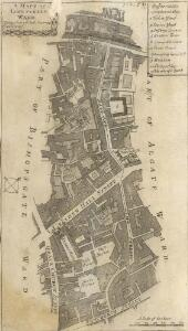 A MAPP OF LIME STREET WARD taken from ye last Survey & Corrected