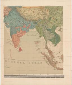 Uebersichts-Karte der ethnographischen Verhältnisse von Asien und von den angrenzenden Theilen Europa'sbearbeitet und herausgegeben mit Unterstützung der kaiserlichen Akademie der Wissenschaften in Wien von Vinzenz v. Haardt