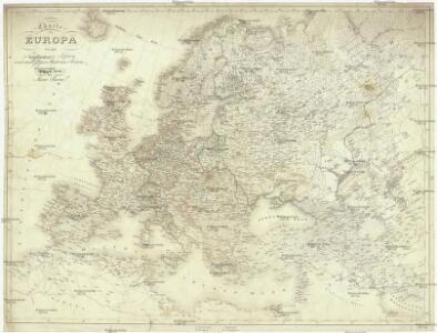 Charte von Europa mit der Nordküste von Africa und einen grossen Theile von Asien