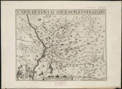 Carte du contat d'Avignon et Venaisain