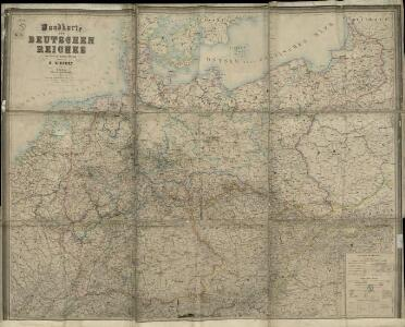 Wandkarte des Deutschen Reiches.zum Schul- und Comptoir- Gebrauch