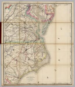 (Virginia, N. Carolina) Railroad Map of the United States.