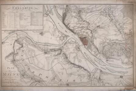Plan der Belagerung von Maynz nebst den vorhergegangenen Positionen bey Wickert und Hochheim im Jahre 1793