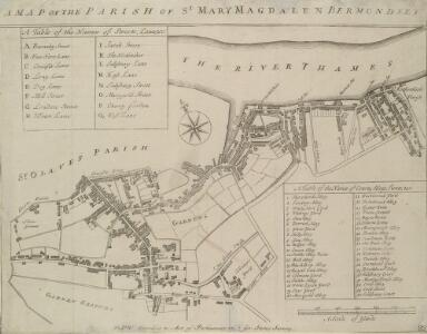 A MAP OF THE PARISH OF ST. MARY MAGDALEN BERMONDSEY